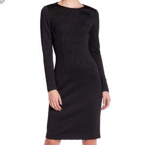 Betsey Johnson Black Long Sleeve Knit Sleek Dress